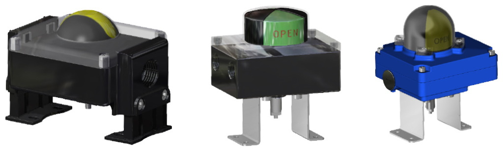 Attuatore pneumatico doppio effetto GD in alluminio - accessori - BOX DI SEGNALAZIONE CON FINECORSA