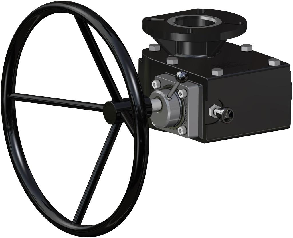 Attuatore pneumatico doppio effetto GD in alluminio - accessori - OPERATORE MANUALE DI SBLOCCO