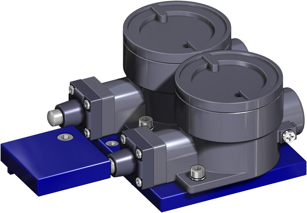 Attuatore pneumatico doppio effetto GD in alluminio - accessori - FINECORSA ANTIDEFLAGRANTI II2GD ExdIIC