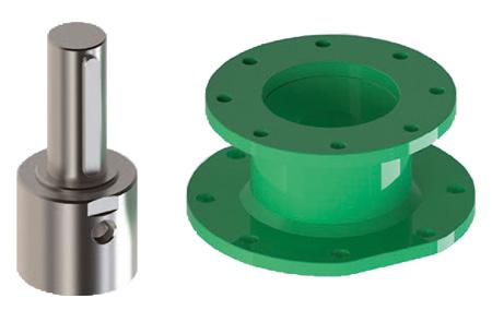 Attuatore pneumatico doppio effetto GD Heavy Duty acciaio carbonio - accessori - Connettore - Giunto