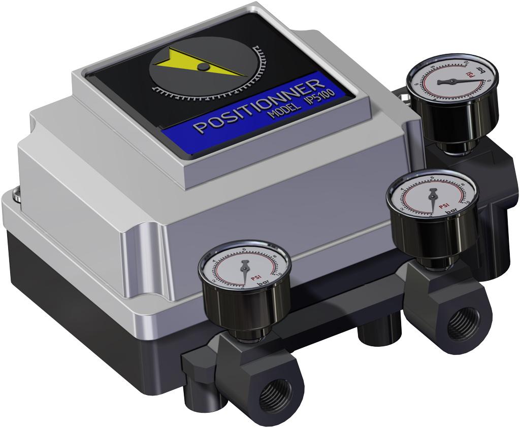 Attuatore pneumatico doppio effetto GD in alluminio - accessori - POSIZIONATORE PNEUMATICO